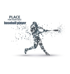 Baseball Batter Hitting Ball particle divergent vector