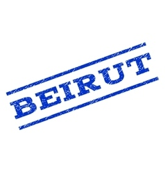 Beirut Watermark Stamp vector image