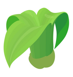 big plant icon cartoon style vector image