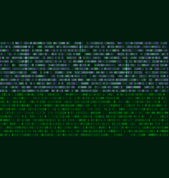 Binary code green digits on the computer screen vector