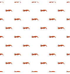 Boiled lobster pattern vector