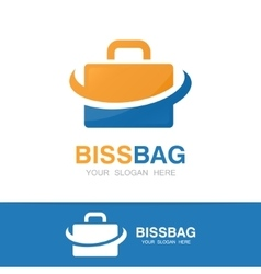 Briefcase logo design vector