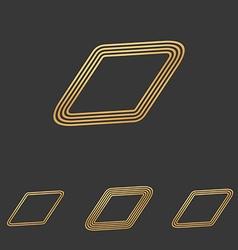 Bronze line rhombus logo design set vector