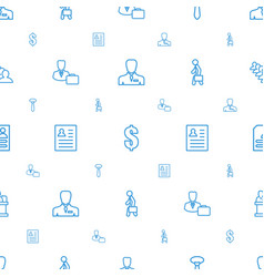 Businessman icons pattern seamless white vector