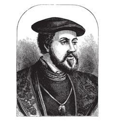 Charles v emperor of germany vintage vector