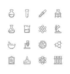 chemistry icon science molecular biology vector image