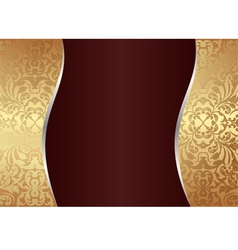 claret and gold background vector image