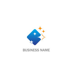 Clean shine square business logo vector