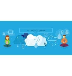 Cloud Storage Design Flat Concept vector image