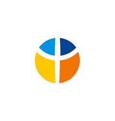 Cross colorful logo vector