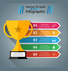 Cup champion - business infographic vector