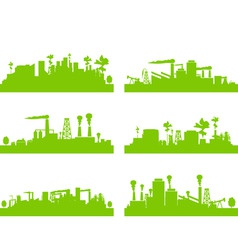 eco factories vector image