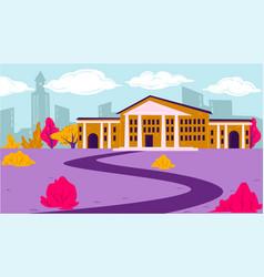 Educational establishment university school vector