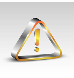 exclamation oint in a metal triangle vector image