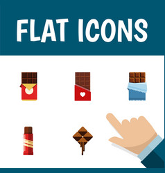 flat icon bitter set of sweet bitter delicious vector image