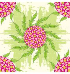 Flower seamless background vector