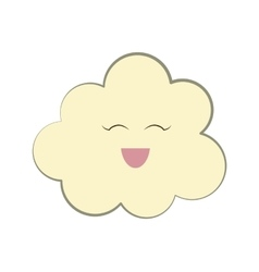 Funny cloud cartoon vector