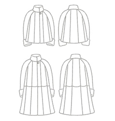 Fur coat vector