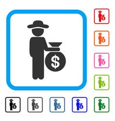 gentleman investor framed icon vector image