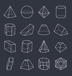 geometric shapes collection vector image
