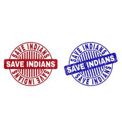 grunge save indians textured round watermarks vector image