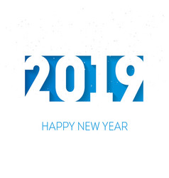 Happy new year 2019 background cover of business vector