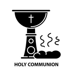Holy communion icon black sign vector