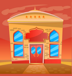 indian restaurant cafe service exterior diner vector image