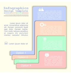 Infographics with elements and icons vector image