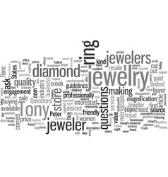 Is your jeweler a crook vector