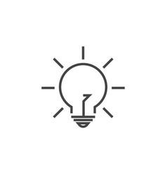 lightbulb lamp graphic design template vector image