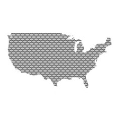 map of the usa coarse meshed vector image
