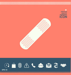 Medical plaster adhesive bandage ico vector