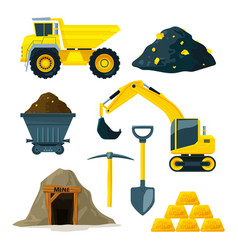 mining industry at different vector image