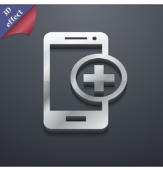 Mobile devices icon symbol 3D style Trendy modern vector image