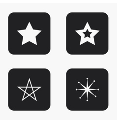 Modern star icons set vector