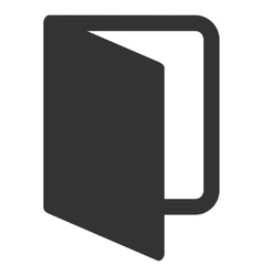 Open Door Flat Icon vector