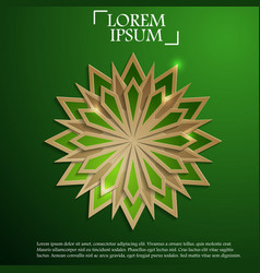 paper graphic of islamic geometric art vector image