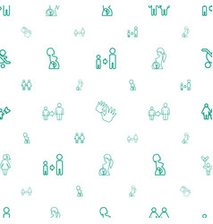 parent icons pattern seamless white background vector image