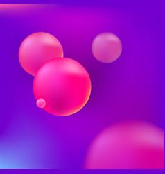 pink 3d spheres vector image