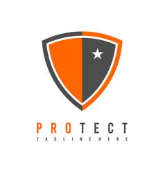 protection logo shield logo security logo vector image
