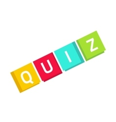 Quiz logo in cubes questionnaire show icon vector