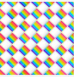 rainbow square mosaic seamless pattern vector image