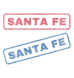 Santa fe textile stamps vector