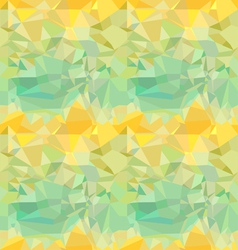 Seamless green and yellow ornament vector image