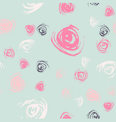 seamless roses pattern vector image