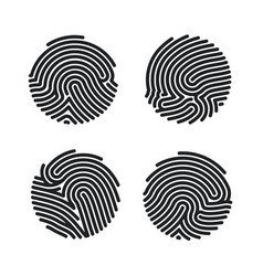 Set circle fingerprint icons design for app vector