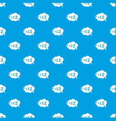 Snoring pattern seamless blue vector