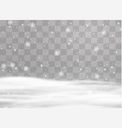 snowflakes snow background vector image