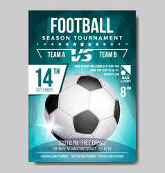 Soccer poster banner advertising sport vector